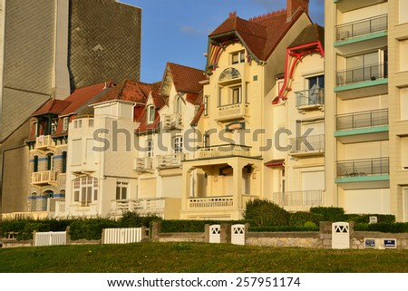 France, the picturesque city of Le Touquet   - stock photo