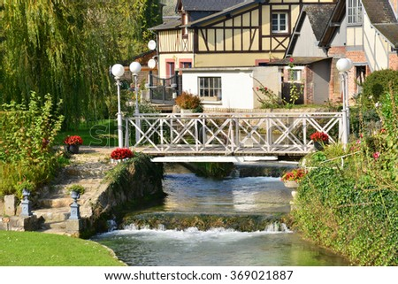 France, the picturesque city of Ry Seine Maritime