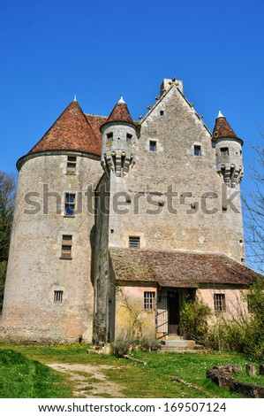 France, the picturesque Courboyer castle in the village of Noce