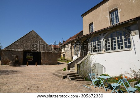 France, the picturesque village of Brancion in saone et loire