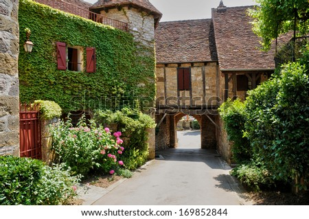 France, the picturesque village of Loubressac - stock photo