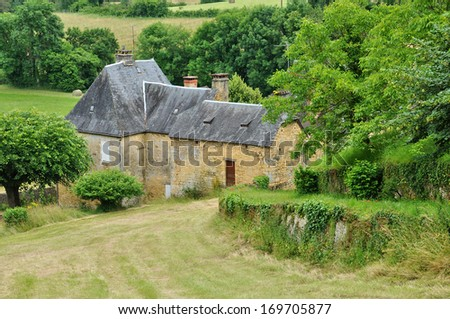France, the picturesque village of Salignac