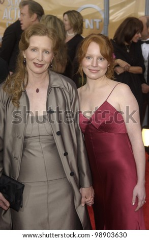 FRANCES CONROY (left) & LAUREN AMBROSE at the 10th Annual Screen Actors Guild Awards in Los Angeles. February 22, 2004