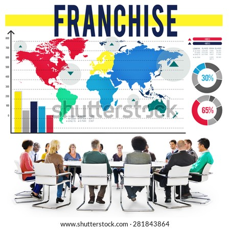Franchise License Marketing Branding Retail Concept - stock photo