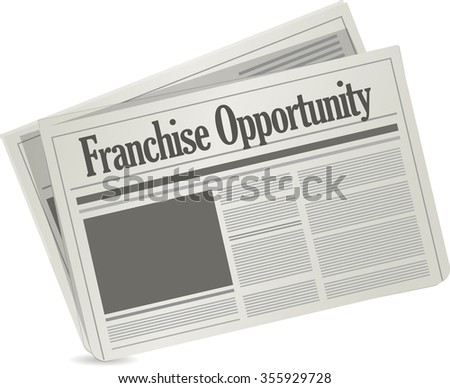 franchise opportunity newspaper concept illustration design graphic - stock photo