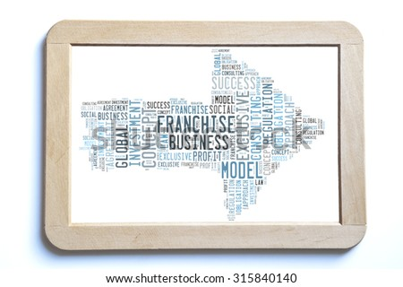 Franchise word cloud - stock photo