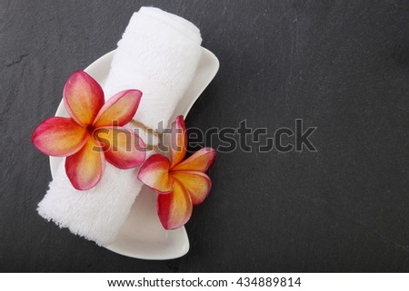 frangipani flower spa and beauty concept