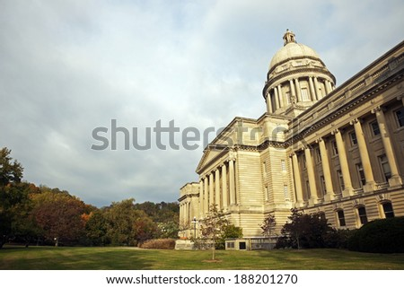 Frankfort, Kentucky - State Capitol Building - stock photo