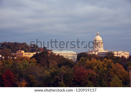 Frankfort, Kentucky - State Capitol Building seen morning time.