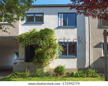 FRANKFURT AM MAIN, GERMANY - JUNE 04, 2013: The Siedlung Roemerstadt is a rationalist housing estate designed by Ernst May in 1926