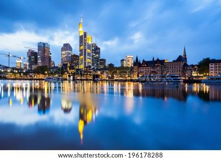 Frankfurt business center skyline  - stock photo