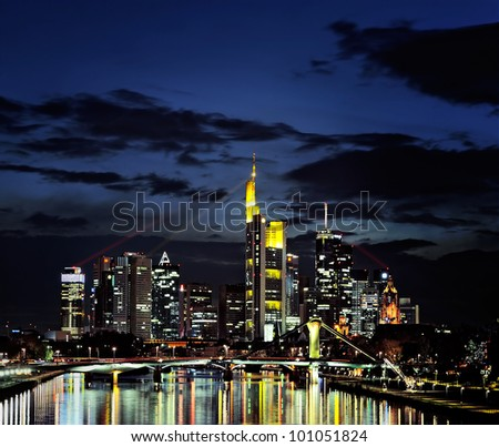 Frankfurt city - stock photo