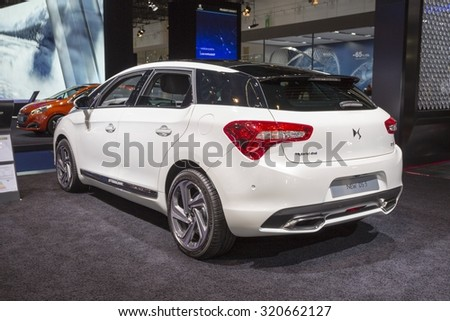 Frankfurt, Deutschland - September 15, 2015: 2015 DS5 presented on the 66th International Motor Show in the Messe Frankfurt