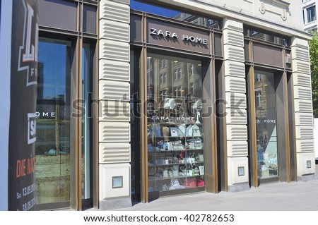 "FRANKFURT,GERMANY-APRIL 07: Shop and the logo of the brand ""Zara Home""  on April 07,2016 in Frankfurt,Germany."