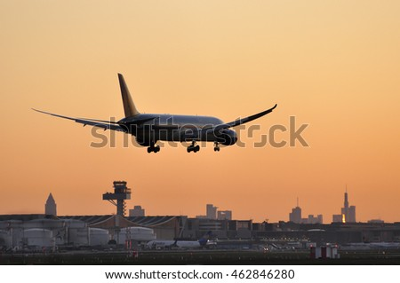 FRANKFURT,GERMANY-APRIL 21:VIETNAM AIRLINES Boeing 787 in the  early morning over Frankfurt airport on April 21,2016 in Frankfurt,Germany.Vietnam Airlines is the flag carrier of Vietnam.