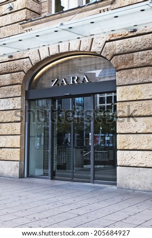 FRANKFURT,GERMANY-JUNE 29: Zara store on June 29,2014 in Frankfurt,Germany.