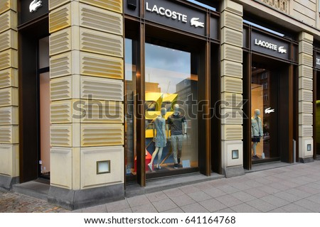 FRANKFURT,GERMANY-MAY 08:LACOSTE fashion store on May 08,2017 in Frankfurt,Germany.Lacoste is a French clothing company, founded in 1933 .
