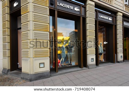 FRANKFURT,GERMANY-MAY 08:LACOSTE  fashion store on May 08,2017 in Frankfurt,Germany.Lacoste is a French clothing company.