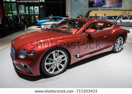 2018 bentley sports car. interesting bentley frankfurt germany  sep 13 2017 allnew 2018 bentley continental gt intended bentley sports car