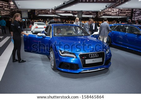 FRANKFURT, GERMANY - SEPTEMBER 11: Frankfurt international motor show (IAA) 2013. Audi RS5
