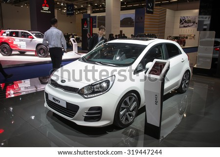 FRANKFURT, GERMANY - SEPTEMBER 16, 2015: Frankfurt international motor show (IAA) 2015. Kia Rio