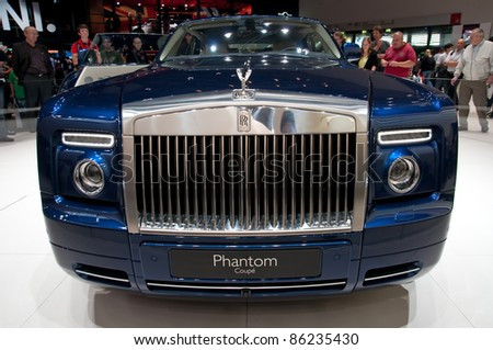 FRANKFURT - SEP 25:  Rolls Royce Phantom Coupe shown at the 64th Internationale Automobil Ausstellung (IAA) on September 25, 2011 in Frankfurt, Germany.