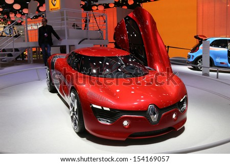 FRANKFURT - SEPT 10: Coupe Concept Renault Dezir shown at the 65th IAA (Internationale Automobil Ausstellung) on September 10, 2013 in Frankfurt, Germany.