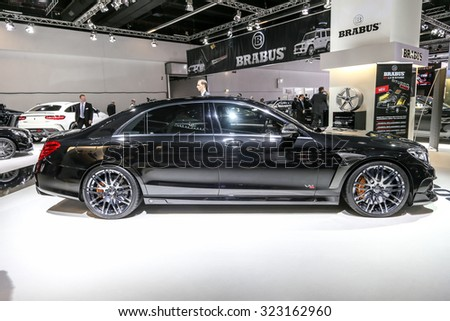 FRANKFURT - SEPT 16: Mercedes Brabus S-Class 900 Rocket shown at the 66th IAA (Internationale Automobil Ausstellung) on September 16, 2015 in Frankfurt, Germany.