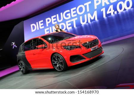 Frankfurt Sept 10 Peugeot 308 R Concept Stock Photo Royalty Free