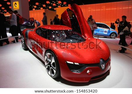FRANKFURT - SEPT 10: Renault Dezir Concept Car shown at the 65th IAA (Internationale Automobil Ausstellung) on September 10, 2013 in Frankfurt, Germany.
