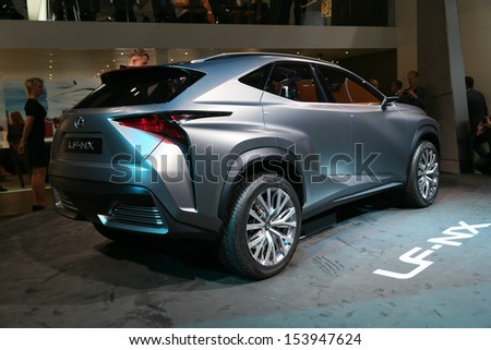 FRANKFURT - SEPT 10: SUV Lexus LF-NX concept shown at the 65th IAA (Internationale Automobil Ausstellung) on September 10, 2013 in Frankfurt, Germany.