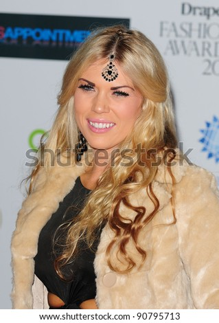 Frankie Essex arriving for the Drapers Fashion Awards at the Grosvenor House Hotel in London. 16/11/2011 Picture by: Simon Burchell / Featureflash