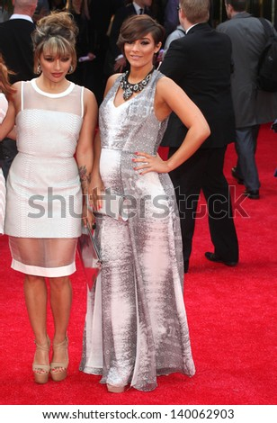 Frankie Sandford and Vanessa White arriving for 'The Hangover Part III' European Premiere, London. 22/05/2013