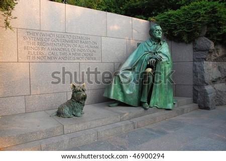 Franklin D. Roosevelt Memorial in Washington, DC, USA - stock photo