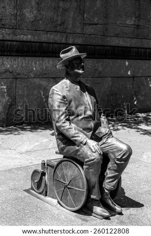 Franklin Delano Roosevelt Memorial in Washington DC USA - stock photo