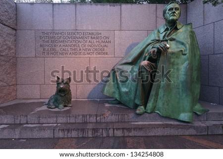 Franklin Roosevelt Memorial in Washington DC, United States - stock photo