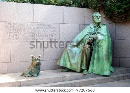 Franklin Roosevelt Memorial in Washington DC ,USA - stock photo
