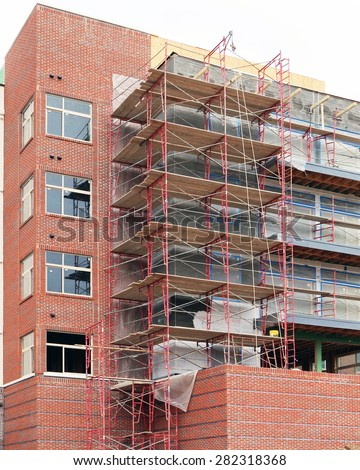 FRANKLIN, TN-MAY, 2015:  Loft apartments or condos under construction in an urban area.    - stock photo