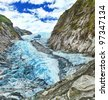 Franz Josef glacier in New Zealand - stock photo