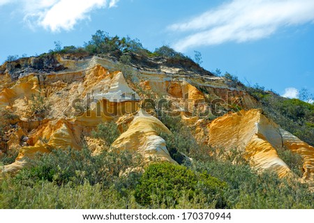 - stock-photo-fraser-island-december-the-pinnacle-colored-sands-view-on-december-in-queensland-170370944