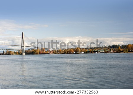 Fraser River in New Westminster, British Columbia, Canada - stock photo