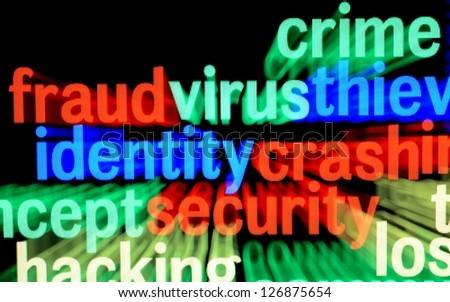 Fraud virus identity - stock photo