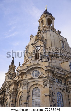 Frauenkirche at dusk - Dresden, Germany - stock photo