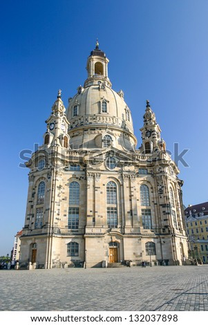 Frauenkirche in Dresden vertical - stock photo