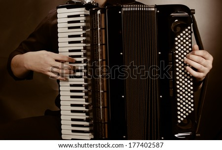 frayed keys of  accordion