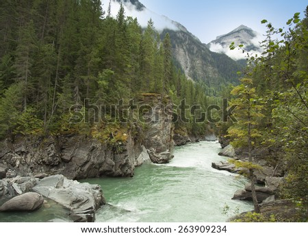 frazer river in british columbia - stock photo
