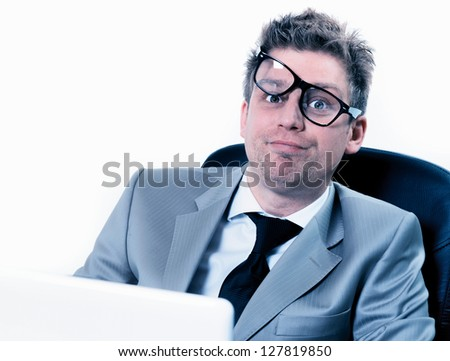 freak out of manager stressed at the office - stock photo