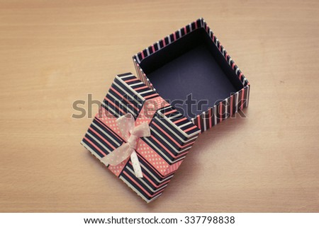 Freckles gifts were opened - stock photo