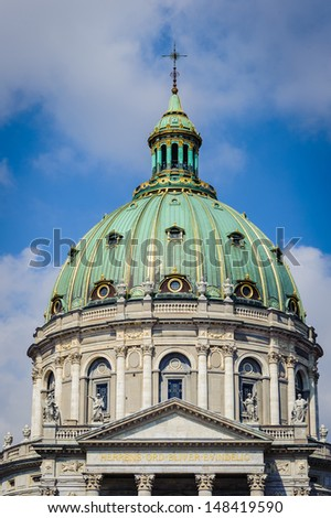 Frederik's Church (Marble Church), an Evangelical Lutheran church in Copenhagen, Denmark. - stock photo