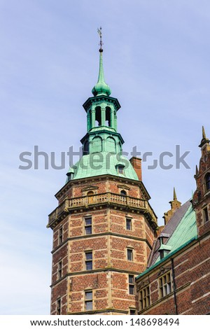 Frederiksborg Castle, Hillerod, Denmark. Actually it is the Museum of the National History - stock photo